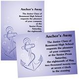 "Blue Anchor 4"" x 6"" Invitation"
