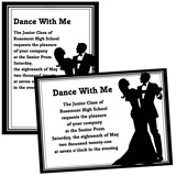 Formal Couple 4x6 Invitations