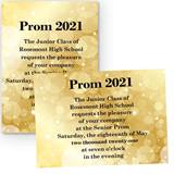 Gold Bubbles 4 x 6 Invitations