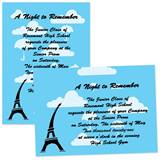 "Paris Umbrellas 4"" x 6"" Invitation"