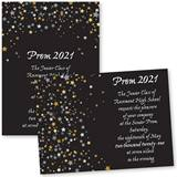 Star Confetti 4 x 6 Invitations