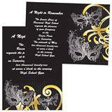 Masks & Swirls 4 x 6 Invitations