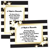 Black, White and Gold 4 x 6 Invitations