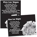 Silver Casino 4 x 6 Invitations