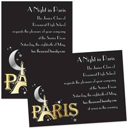 Paris Sparkle 4 x 6 Invitations