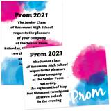 Pink and Blue Prom 4 x 6 Invitations