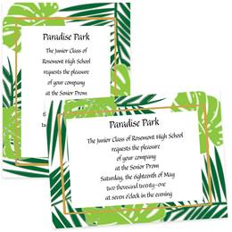 Palm Leaves 4 x 6 Invitations
