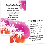 Sunset Palm Trees 4 x 6 Invitations
