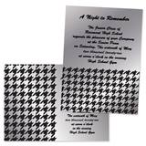 "Silver Houndstooth 4"" x 6"" Invitation"