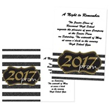 "Gold Glitter 2017 4"" x 6"" Invitation"
