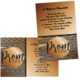 Prom 2018 Stripes 4x6 Invitation