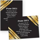 Golden Streaks 4x6 Invitation