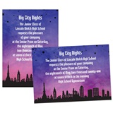 Purple Cityscape 4x6 Invitation