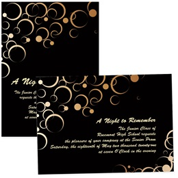4x6 Full-color Custom Invitations - Copper Circles