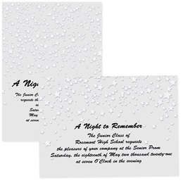 4x6 Full-color Custom Invitations - Raining Silver Stars