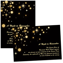 4x6 Full-color Custom Invitations - Glowing Golden Stars