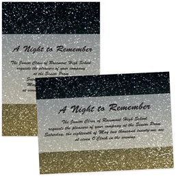 4x6 Full-color Custom Invitations - Gold Sparkle Sand