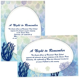 4x6 Full-color Custom Invitations - Underwater Coral