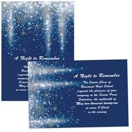 4x6 Full-color Custom Invitations - Glowing Snowflakes