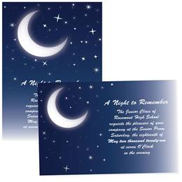4x6 Full-color Custom Invitations - Glowing Moon