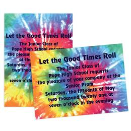 Tie-dye Rainbow 4x6 Invitation