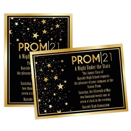 Gold Star Quality Prom 2021 4x6 Invitation