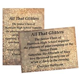 Copper Glitter 4x6 Invitation