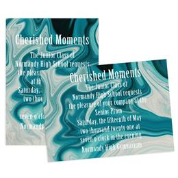 Teal Marble 4x6 Invitation