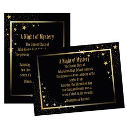 Starlit Corners 4x6 Invitation