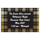 Full-color Ticket - Black and Gold Plaid