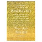 Gold Razzle Dazzle Invitation