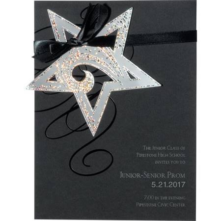 Silver Hanging Star Invitation