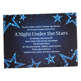 Electric Blue Stars Invitation