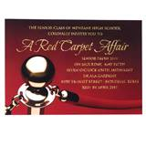 Red Carpet Rope Invitation