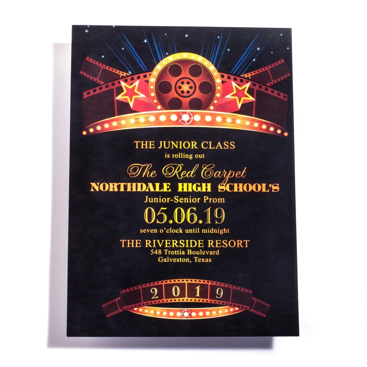 Vintage Hollywood Invitation Prom Nite
