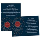 Gold Lines Prom 4x6 Invitation