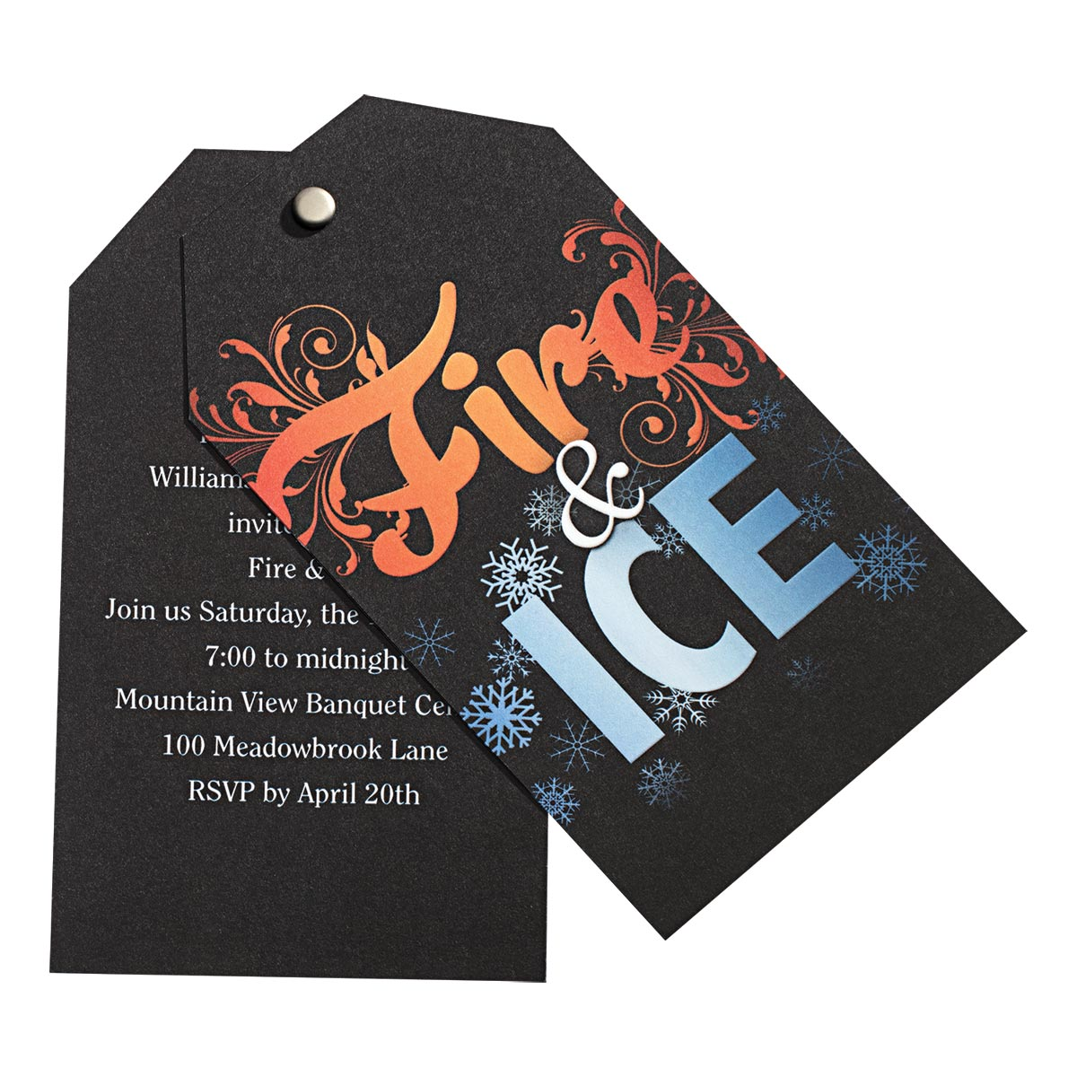 Fire and Ice Twist Invite Prom Nite Prom Nite