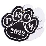 Paw Flip Open Prom Invitation - Black/White