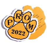 Paw Flip Open Prom Invitation - Gold/Black
