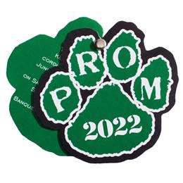 Paw Flip Open Prom Invitation - Green/White