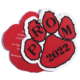 Paw Flip Open Prom Invitation - Red/Black