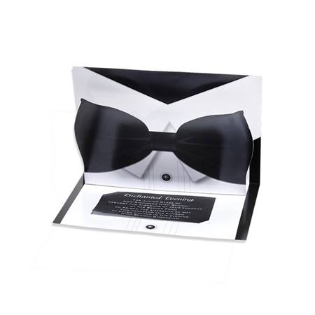 Pop-up Prom Invitation - Bow Tie
