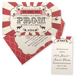 One Night Only Circus Invitation and Ticket Set