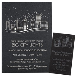 City in the Sky Invitation and Ticket Set