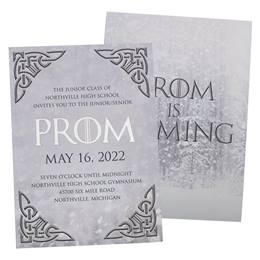 Celtic Foil Prom Invitations