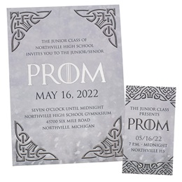Celtic Prom Invitation and Ticket Set