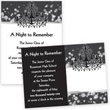 Full color invitations prom invitations prom nite chandelier diamonds 4 x 6 invitations mozeypictures Image collections