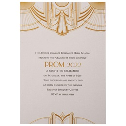 Art Deco Gold on Cream Invite