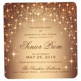 Gold Sparkle Lights Invite