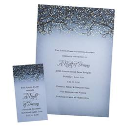 Twinkling Tree Invitation and Ticket Set